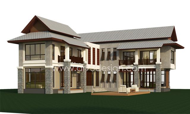 แบบบ้านสำเร็จรูปสองชั้น AR01-2