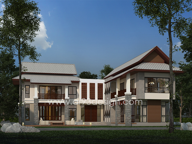 แบบบ้านสำเร็จรูปสองชั้น AR01